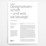 Designwissenschaft – und was sie bewegt!